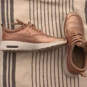 Rose gold Nike's